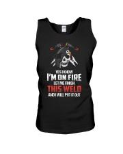WELDER IS ON FIRE Unisex Tank thumbnail