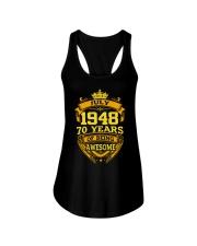 HAPPY BIRTHDAY JULY 1948 Ladies Flowy Tank thumbnail