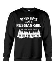 NEVER MESS WITH RUSSIAN GIRL Crewneck Sweatshirt thumbnail