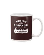 NEVER MESS WITH RUSSIAN GIRL Mug thumbnail