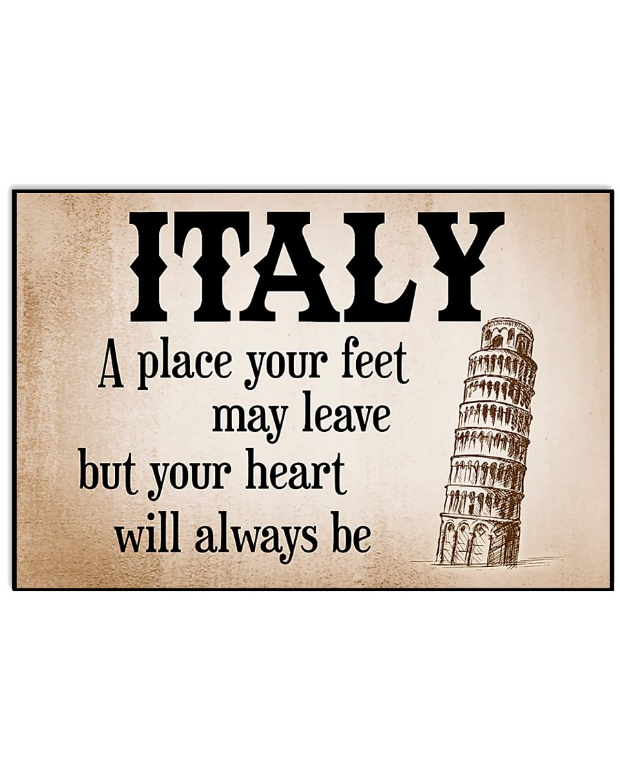 ALWAYS REMEMBER ITALY 17x11 Poster