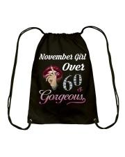 BIRTHDAY NOVEMBER 60 Drawstring Bag thumbnail