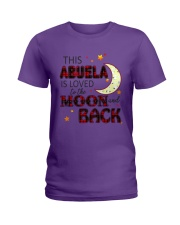 LOVED TO THE MOON AND BACK ABUELA EDITION Ladies T-Shirt thumbnail