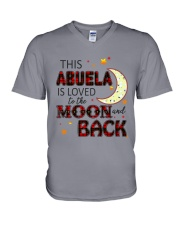 LOVED TO THE MOON AND BACK ABUELA EDITION V-Neck T-Shirt thumbnail