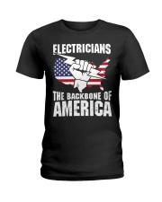 BACKBONE OF AMERICA Ladies T-Shirt thumbnail
