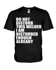 DON'T DISTURB THIS WELDER V-Neck T-Shirt thumbnail