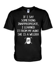 I LEARNED IT FROM WELDER AUNT V-Neck T-Shirt thumbnail