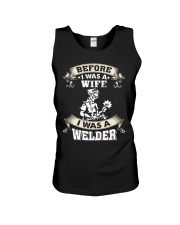 BEFORE I WAS A WIFE I WAS A WELDER Unisex Tank thumbnail