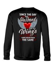 MY HUSBAND GOT HIS WINGS Crewneck Sweatshirt thumbnail