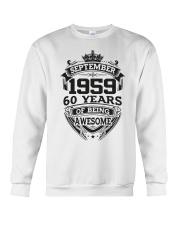 HAPPY BIRTHDAY SEPTEMBER 1959 Crewneck Sweatshirt thumbnail