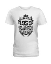 HAPPY BIRTHDAY SEPTEMBER 1959 Ladies T-Shirt thumbnail