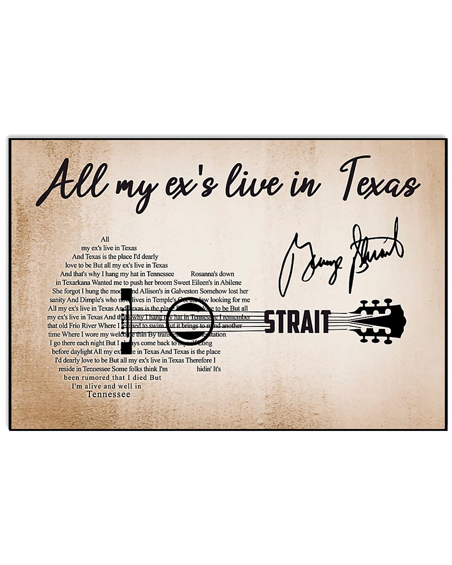ALL MY EX'S LIVE IN TEXAS 17x11 Poster
