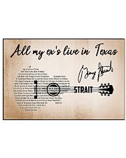 ALL MY EX'S LIVE IN TEXAS 17x11 Poster front