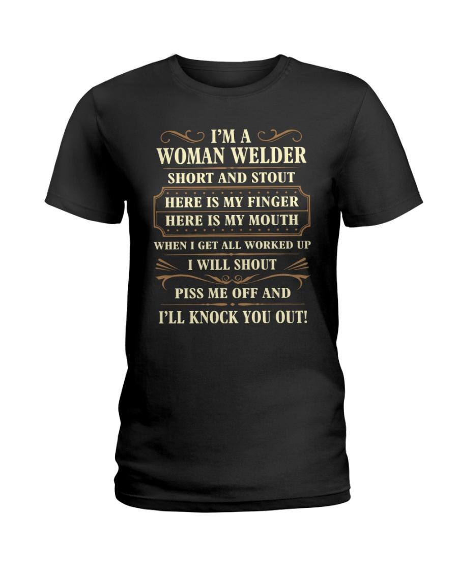 WOMAN WELDER Ladies T-Shirt