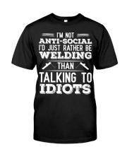 DON'T TALK TO IDIOTS Classic T-Shirt front