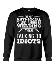 DON'T TALK TO IDIOTS Crewneck Sweatshirt thumbnail