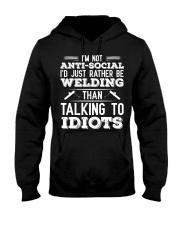 DON'T TALK TO IDIOTS Hooded Sweatshirt thumbnail