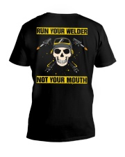 DON'T RUN YOUR MOUTH V-Neck T-Shirt tile
