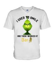 GRINCH WITH BAR V-Neck T-Shirt thumbnail