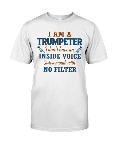 A TRUMPETER WITH NO INSIDE VOICE