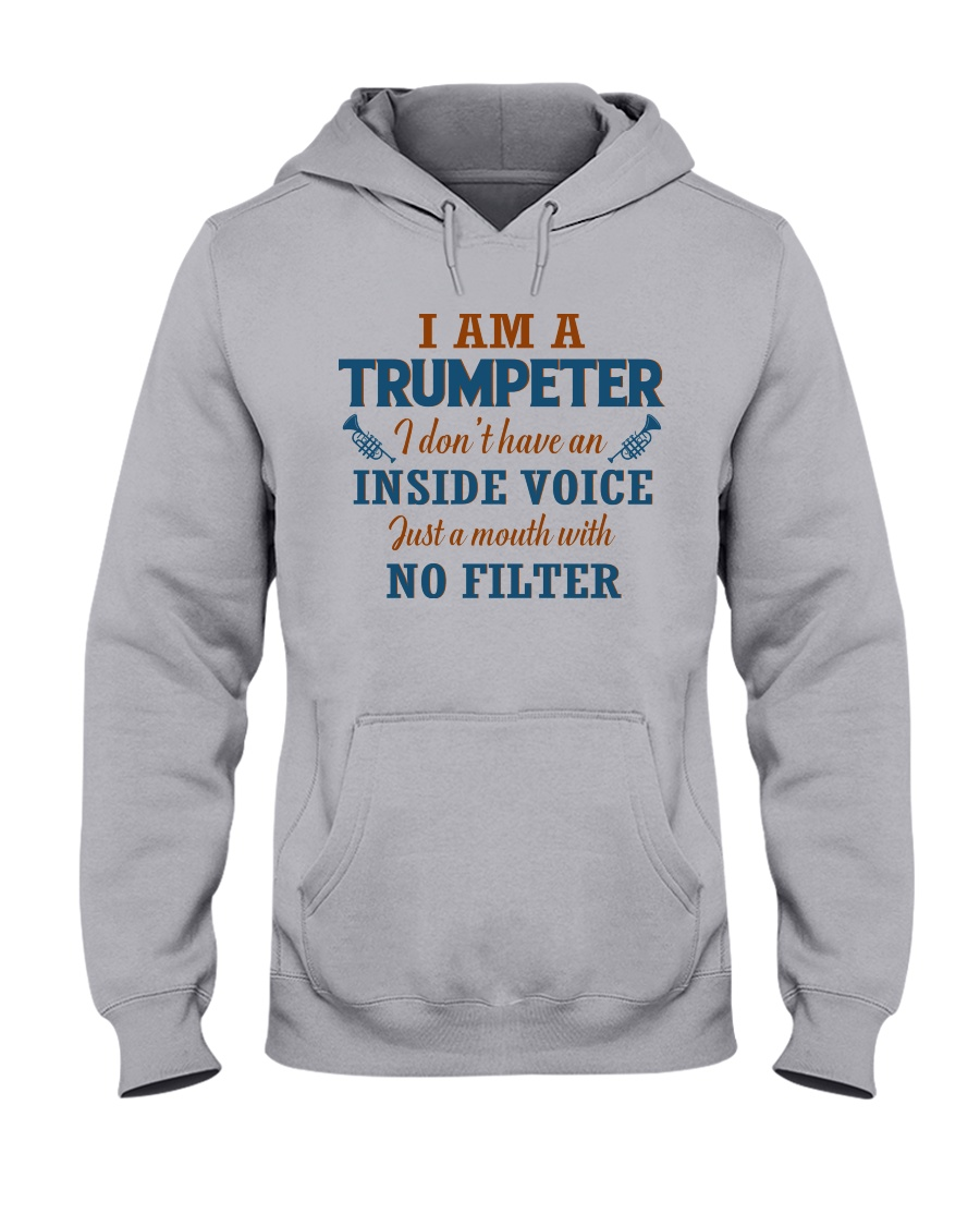 A TRUMPETER WITH NO INSIDE VOICE Hooded Sweatshirt