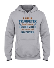 A TRUMPETER WITH NO INSIDE VOICE Hooded Sweatshirt thumbnail
