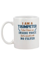 A TRUMPETER WITH NO INSIDE VOICE Mug back