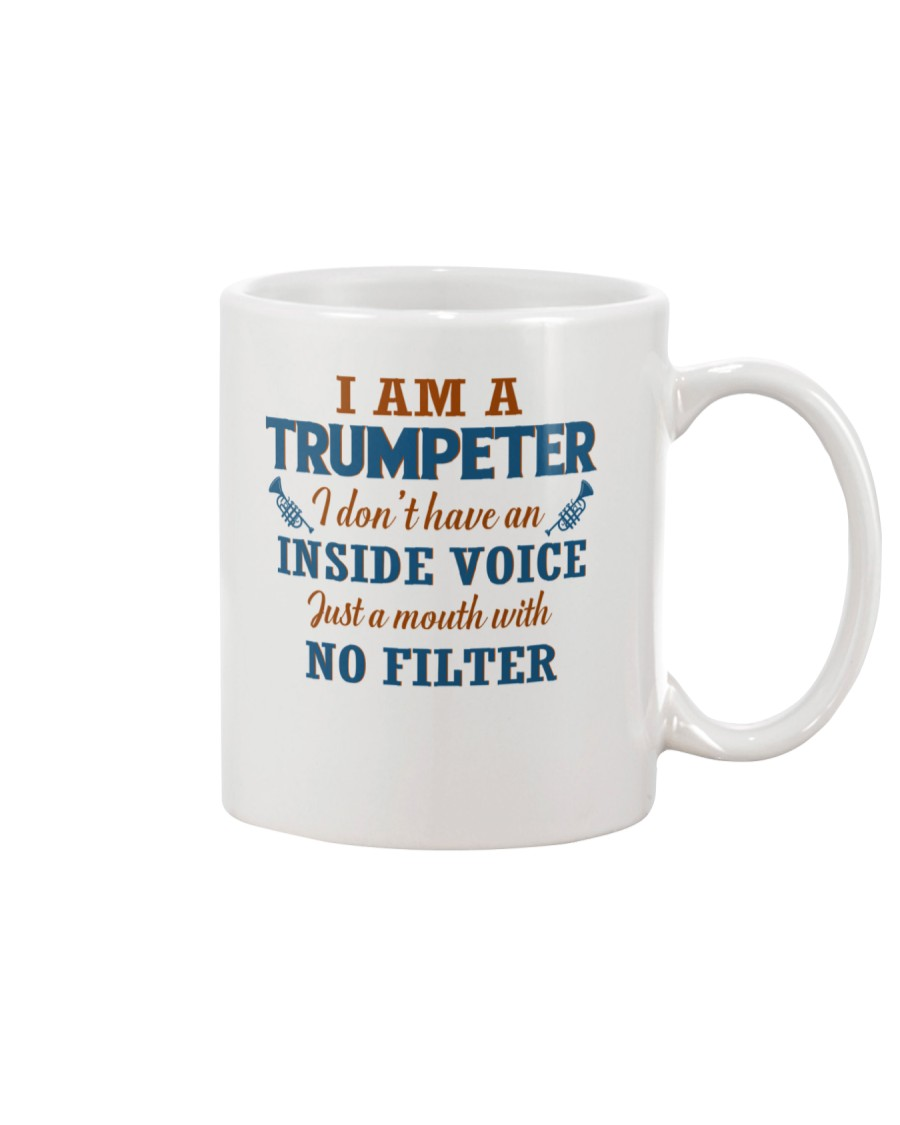 A TRUMPETER WITH NO INSIDE VOICE Mug