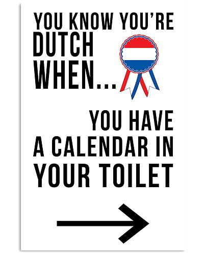 YOU'RE DUTCH WHEN
