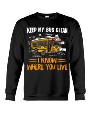 KEEP MY BUS CLEAN Crewneck Sweatshirt thumbnail