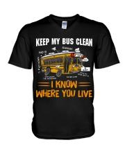 KEEP MY BUS CLEAN V-Neck T-Shirt thumbnail