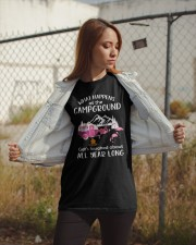 WHAT HAPPENS AT THE CAMPGROUND Classic T-Shirt apparel-classic-tshirt-lifestyle-07