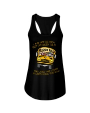 BUS DRIVER MAY NOT BE RICH Ladies Flowy Tank thumbnail