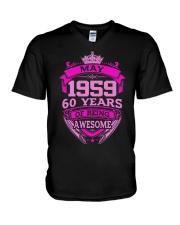 HAPPY BIRTHDAY May 1959 V-Neck T-Shirt thumbnail