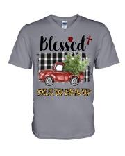 BLESSED MAWMAW V-Neck T-Shirt thumbnail