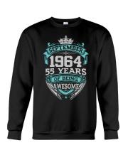 Happy Birthday September 1964 Crewneck Sweatshirt thumbnail