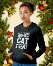 Funny Cat T Shirt Hooded Sweatshirt lifestyle-holiday-hoodie-front-4