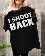 I SHOOT BACK  Classic T-Shirt apparel-classic-tshirt-lifestyle-front-117
