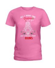 Gun Christmas Ladies T-Shirt tile