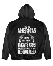 I am an american Men's All Over Print Hoodie back