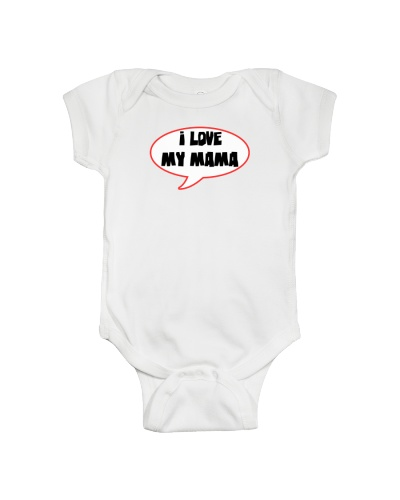 I LOVE MY MAMA funny shirts for men women kid baby