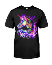 Colorful Rainbow Cute Unicorn Shirt Classic T-Shirt thumbnail