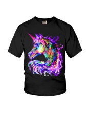 Colorful Rainbow Cute Unicorn Shirt Youth T-Shirt front