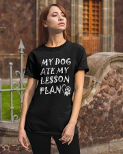 My Dog Ate My Lesson Plan T-Shirts Classic T-Shirt apparel-classic-tshirt-lifestyle-06