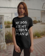 My Dog Ate My Lesson Plan T-Shirts Classic T-Shirt apparel-classic-tshirt-lifestyle-18