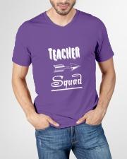 Teacher Squad V-Neck T-Shirt garment-vneck-tshirt-front-lifestyle-01