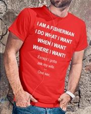 I AM A FISHERMAN Classic T-Shirt lifestyle-mens-crewneck-front-4
