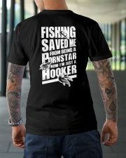 FISHING SAVED ME Classic T-Shirt lifestyle-mens-crewneck-back-3