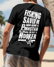 FISHING SAVED ME Classic T-Shirt lifestyle-mens-crewneck-back-4