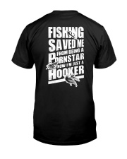 FISHING SAVED ME Premium Fit Mens Tee tile